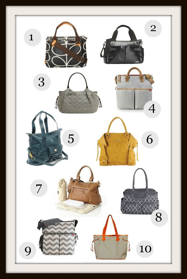 10 Stylish Diaper Bags. I'm so getting one for Christmas!