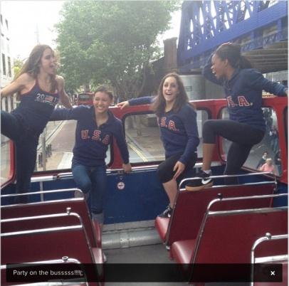 McKayla Maroney, Kyla Ross, Jordyn Wieber & Gabrielle Douglas in London