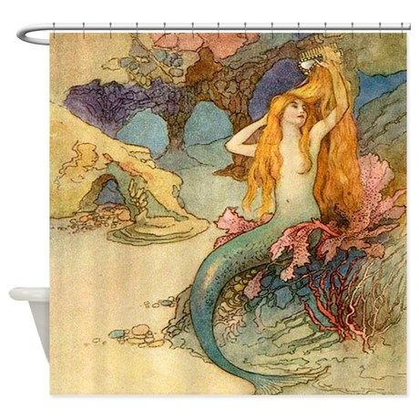 mermaid and pirate shower curtain 1000 ideas about mermaid shower curtain on 253
