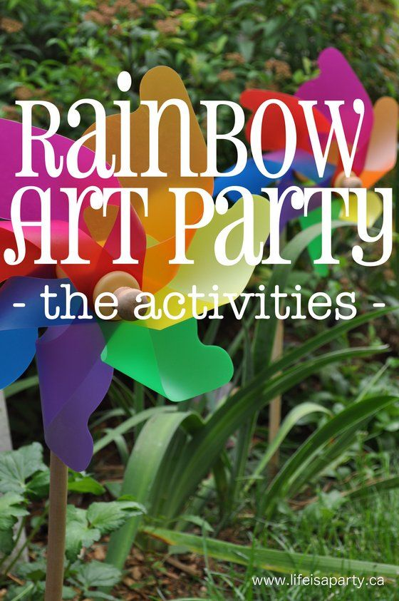 Rainbow Art Party -lots of great activities