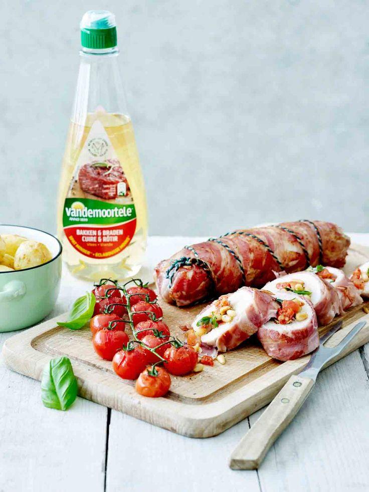 Gevulde kipfilet met mediterrane smaken