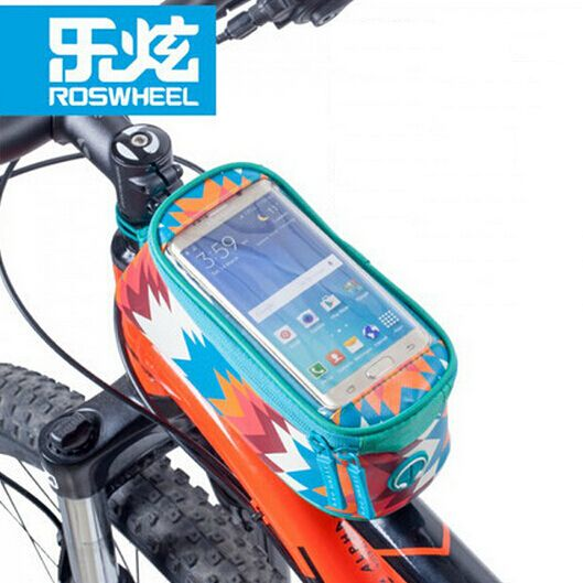 "ROSWHEEL Outdoor Bike Bicycle 4.8"" Frame Front Tube Bag Phone CaseTouchscreen Phone Pouch"