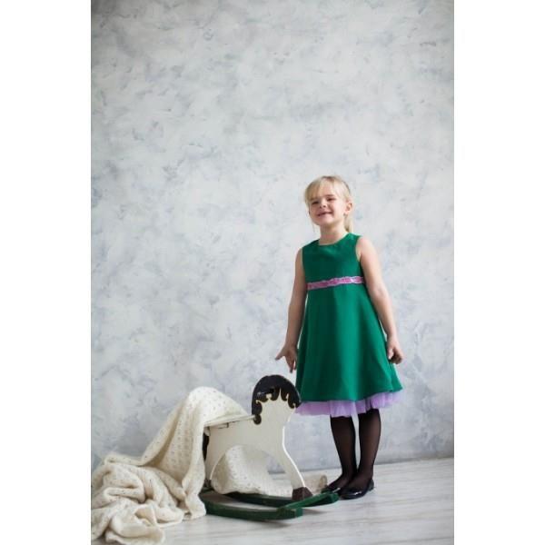 Платье мятный леденец