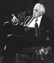 "Robert Frost writes poetry I understand.    ""I took the one less traveled by,  And that has made all the difference."" Robert Frost"