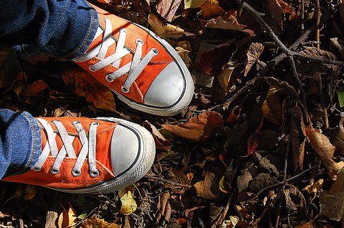 orange converse., via Flickr.