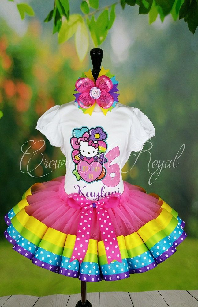 Hello Kitty 1st Birthday Outfit, Hello Kitty Dress, Hello Kitty Tutu, Hello Kitty Birthday Dress (PERSONALIZED TUTU) by CrownMeRoyalBoutique on Etsy