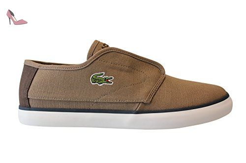 Lacoste - Mode - ovrhnd 416 1 spm lt brw/dk brw cnv - Taille 43 - Chaussures lacoste (*Partner-Link)