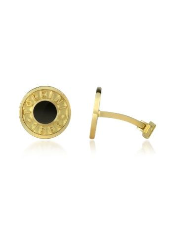 Torrini 1369 Coin Cufflinks in Onyx and 18ct Yellow Gold £1,527.00