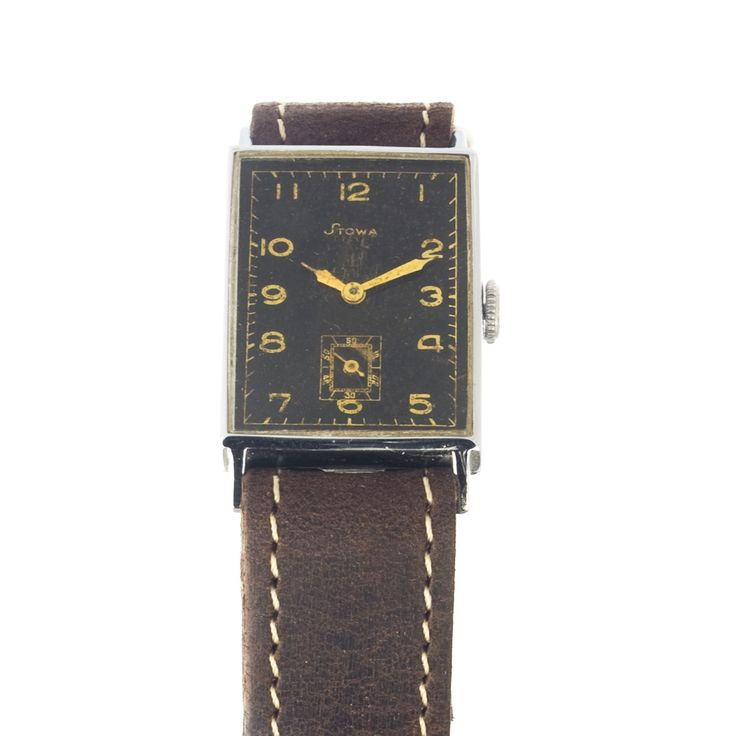 Stowa vintage watch in Bauhaus style - are you into rectangle shape watches?