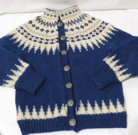 Klover Huset Fair Isle Norwegian wool sweater made by VikingRaids