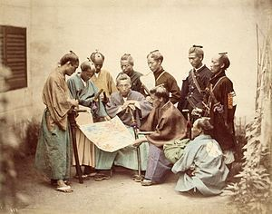 "Japanese History - The Boshin War (戊辰戦争 Boshin Sensō, ""War of the Year of the Dragon"") was a civil war in Japan, fought from 1868 to 1869 between forces of the ruling Tokugawa Shogunate and those seeking to return political power to the imperial court."
