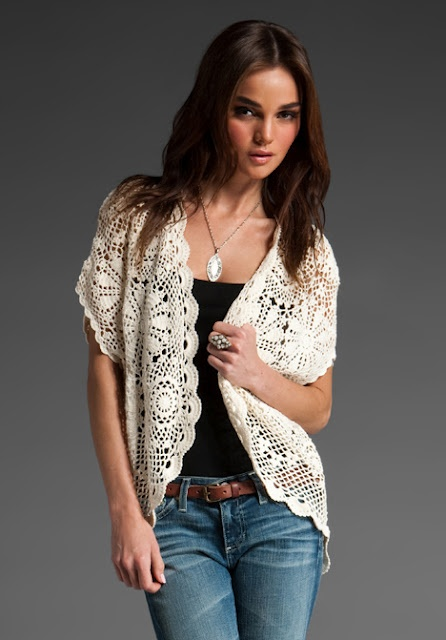 Pretty draping vest (I really like this look)