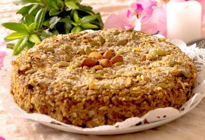 Cukkinis-almás-banános diétás zabpehely torta recept képpel. Hozzávalók és az elkészítés részletes leírása. A cukkinis-almás-banános diétás zabpehely torta elkészítési ideje: 50 perc