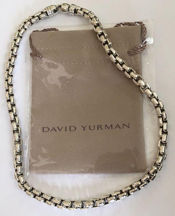 DAVID YURMAN 18  EXTRA LARGE 7mm STERLING SILVER BOX CHAIN NECKLACE- 114 Grams   & Die 17 besten Bilder zu Jewelry Box Treasures auf Pinterest   Link ... Aboutintivar.Com