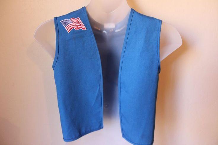 Girl Scout Daisy Vest XXS XS Flag Patch Blue  #GirlScoutsofAmerica #Vest