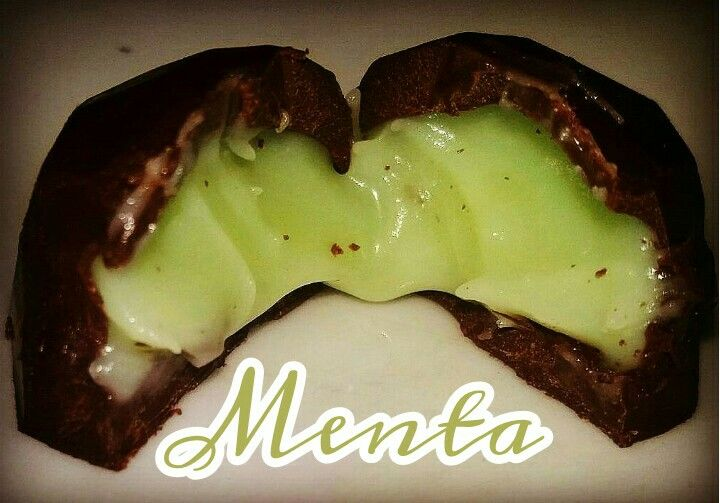 Chocolate semi amargo relleno de deliciosa menta