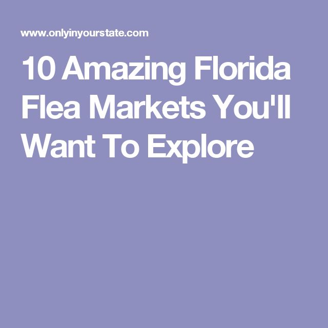10 Amazing Florida Flea Markets You'll Want To Explore