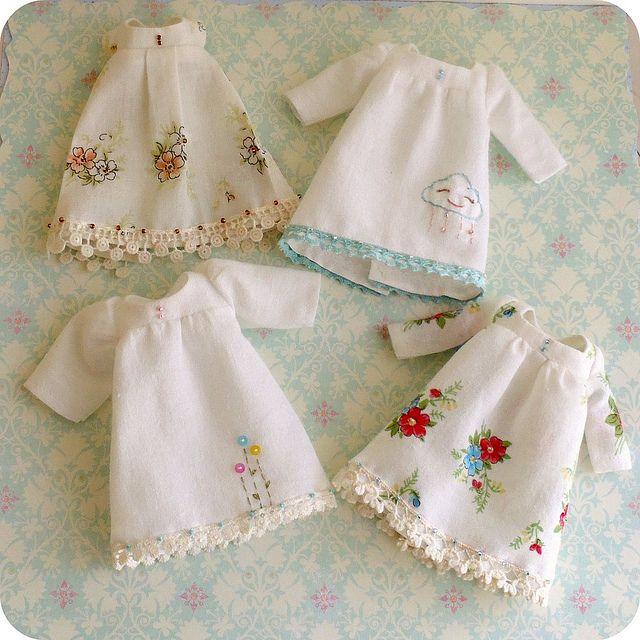 vintage hankie dresses by Gingermelon, via Flickr
