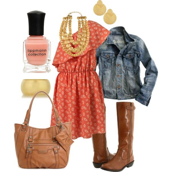 love peach :): Cowboy Boots, Fashion, Style, Country Girl, Dream Closet, Dress, First Dates, Outfit