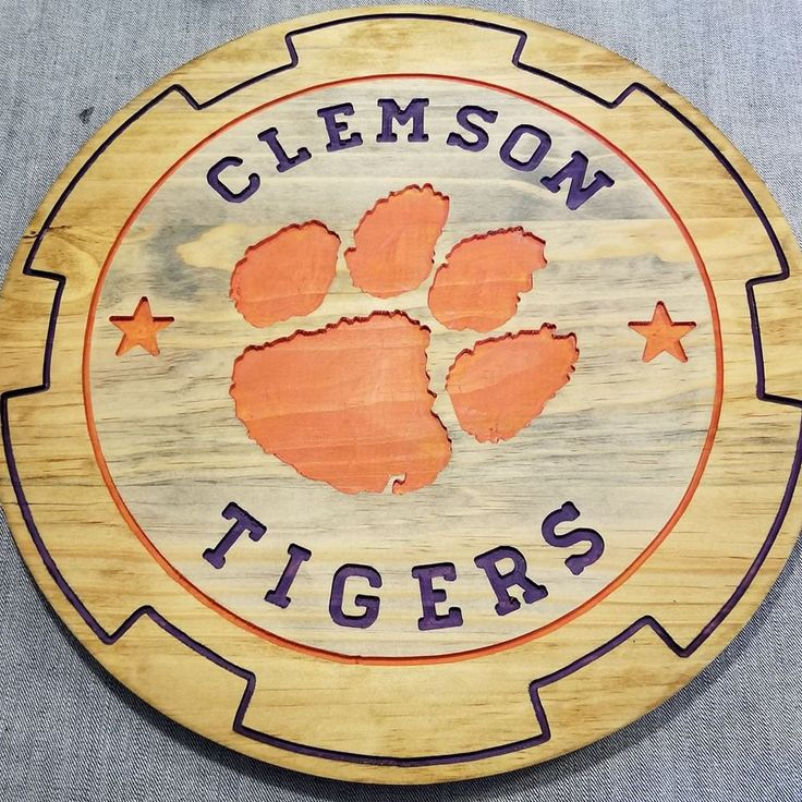 Excited to share the latest addition to my #etsy shop: Clemson Tigers! Rustic Wood Sign Wall Decor. 16 inch round by 11/16 thick pine board http://etsy.me/2D7GJZQ #housewares #homedecor #entryway #sports #ladycave #mancave #team #wood #carved #clemson