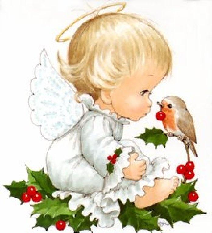 Милые открытки с ангелочками