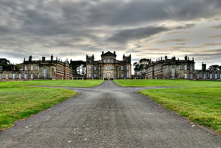 Seaton Delaval Hall, the model for Bellegarde Hall in The Baron's Honourable Daughter