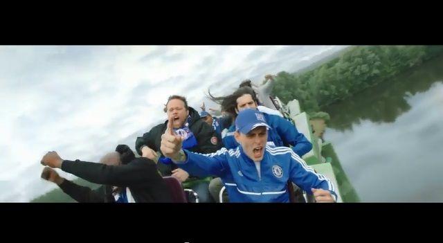 プレミアリーグのファンの熱狂を、「ジェットコースター」になぞらえたTV-CM | AdGang
