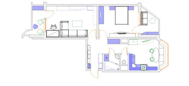 Фотография: Планировки в стиле , Квартира, Дома и квартиры, Перепланировка, дом серии п-44т – фото на InMyRoom.ru