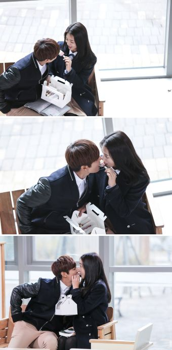 "Lee Min Ho and Park Shin Hye ""Donut Kiss"" ♡ #Kdrama - ""HEIRS"" / ""THE INHERITORS"""
