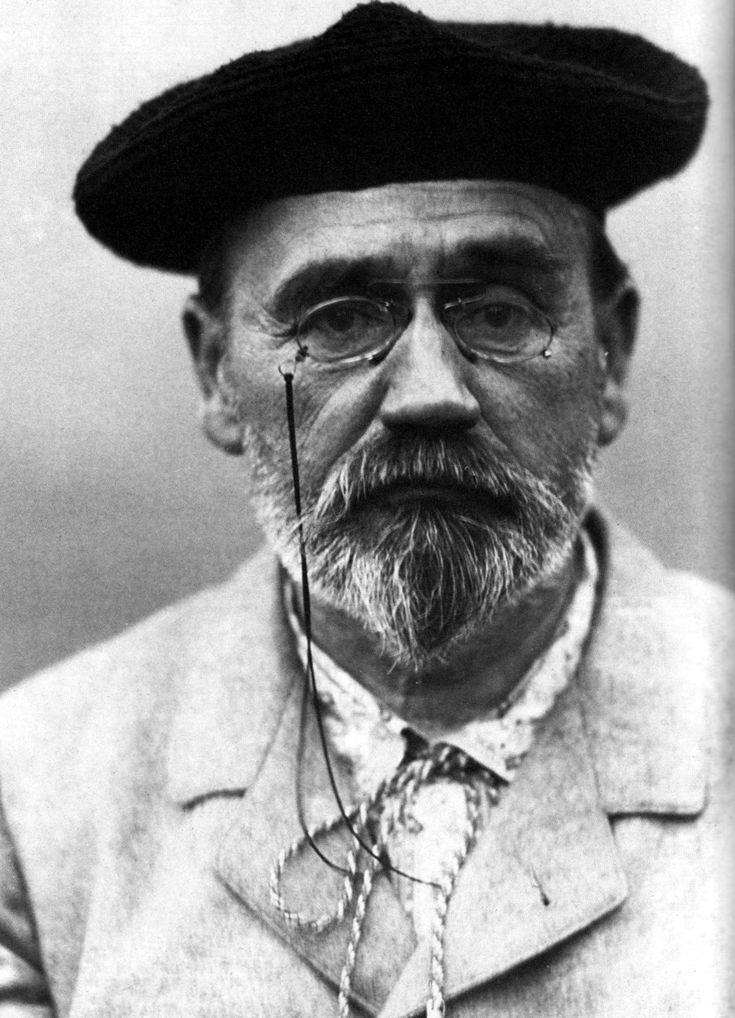 Émile Zola. Escritor francés, considerado el padre del naturalismo. Autor de La Bête humaine, Germinal, Thérèse Requin, El vientre de París, El paraíso de las damas...