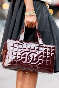Ooh la la ~Wine-colored Chanel Bag