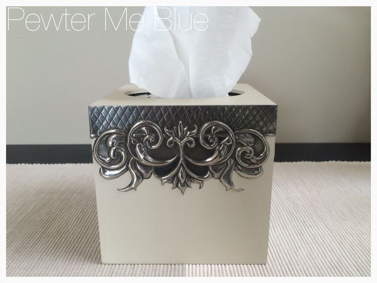 Tissue box by Yvonne - Pewter Me Blue www.fb.com/pewtermeblue