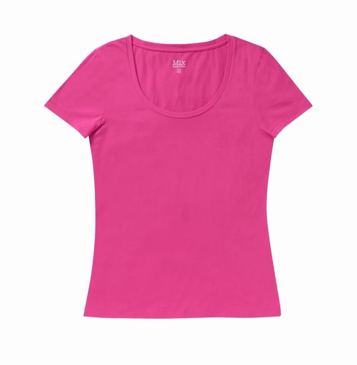 Basic Crew Neck Tee - Pink