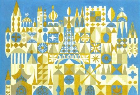 Concept for It's A Small World by Mary Blair, 1964.