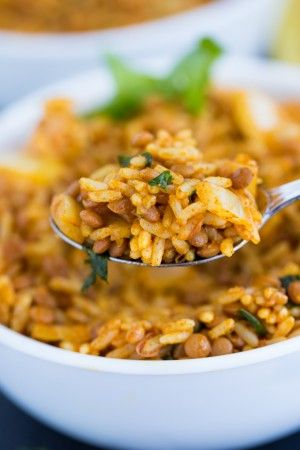 Curried Lentil Rice - Vibrant, spicy and healthy!