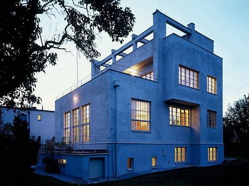 Adolf Loos designed House in Prague by Adolf Loos and Karel Lhota, 1931-32.