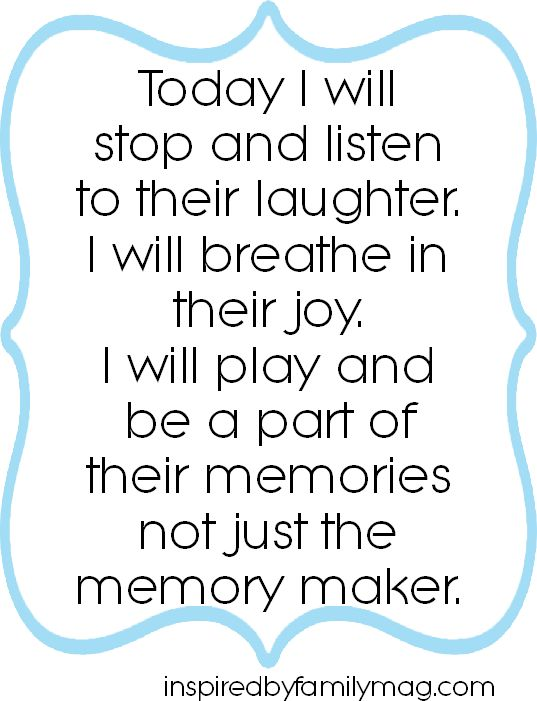 "Don't just be the memory maker... This is so hard for me to do sometimes, I'm such a planner. Are you the ""memory maker"" in your family?"