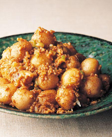 ひき肉と小丸じゃがいもの味噌炒め 新ジャガ