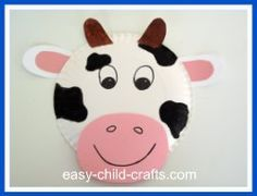 Make a brown cow using paper and glue for BROWN day to go along with Moo, Moo Brown Cow book