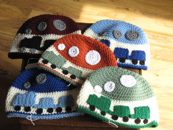 Made to Order Boy Toddler Child Train Trains Hat Cap Toboggan Crochet Crocheted Handmade Beanie You pick Color