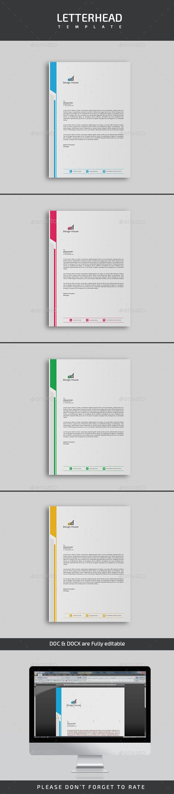 letter format on letterhead%0A  Letterhead Template   Stationery Print Templates