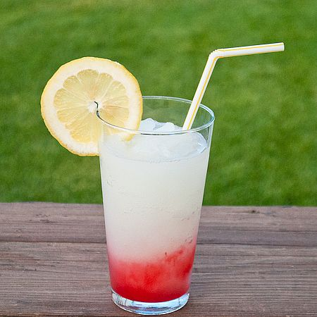 regardless of what anyone says I think the McDonald's Frozen Strawberry Lemonade is FAB!  Here is a copycat version using an ice cream maker.  Mine hasn't been used in years, I think it'll get a workout this year!