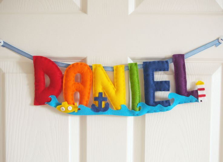 Personalised sea themed name banners, just perfect for a summer  baby ☺️  #summer #nautical #nursery #homedecor #handmade #felt