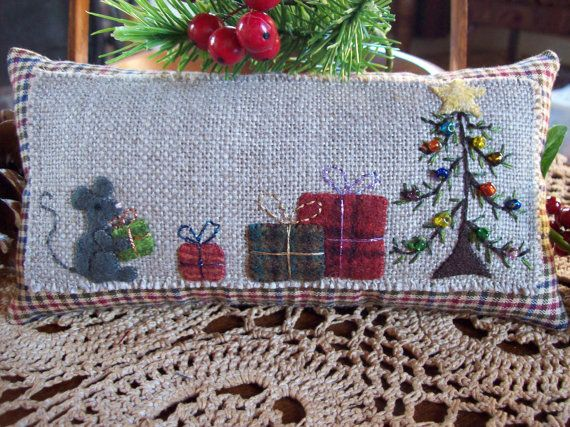Little Country Mouse's Christmas Shelf Pillow Tuck by rustiquecat