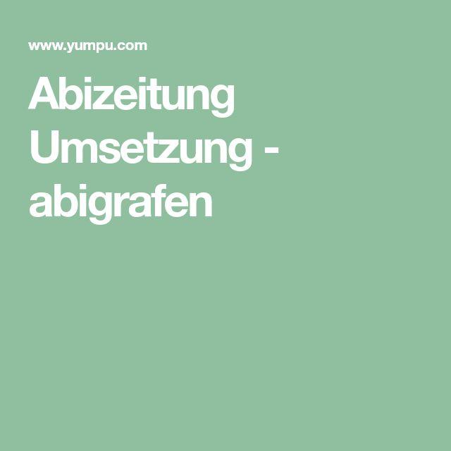 Abizeitung Umsetzung - abigrafen