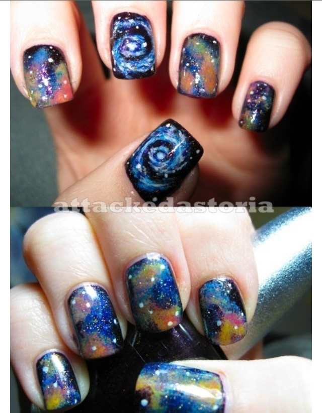 70 best nails images on pinterest nail scissors hair for Outer space nail design