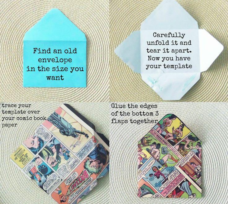 DIY Comic Book Envelopes   Crafty Little Gnome
