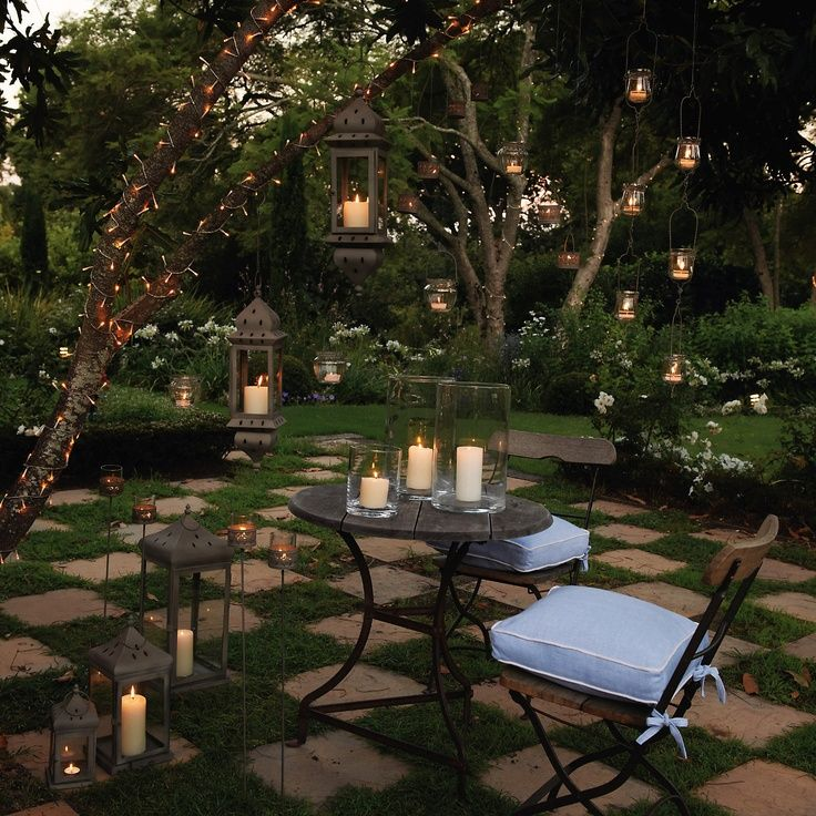 Romantic Backyard, Cottage Garden, Patio