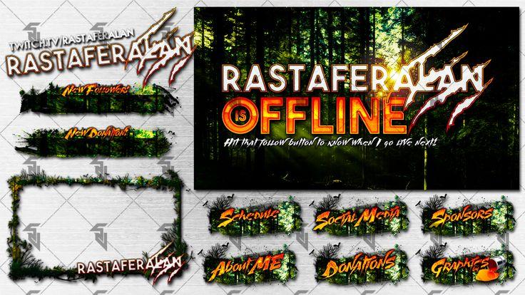 Rastaferalan - Streamer Pack (Twitchtv) by StudioVulcan