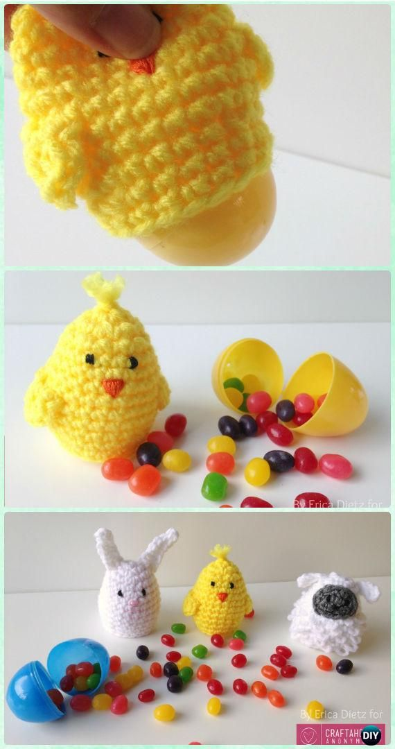 Crochet Easter Egg Covers Free Pattern - Crochet Easter Egg Ideas [Free Patterns]
